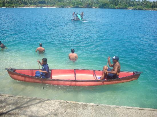 Madang, Papua New Guinea: canoeing