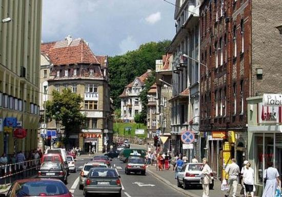 City of Walbrzych southwest Poland about 150 K. people before the WWII it was a part  of Ger