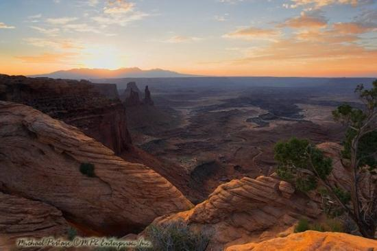 Island in the Sky: Sunrise over Canyonlands, Moab Utah, August 2007