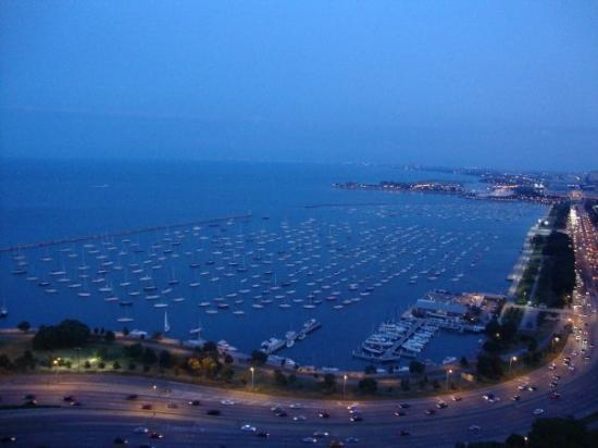 Lake Michigan from the balcony at the penthouse