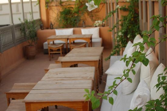Zaouia 44: La terrasse pour le petit déjeuner
