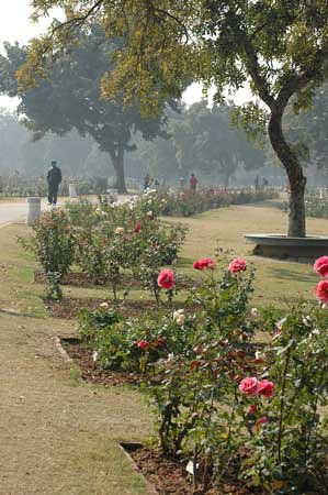 Chandigarh, India: walking path