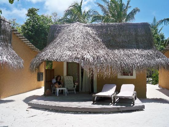 Our beach bungalow - Picture of Kuredu Island Resort & Spa ...