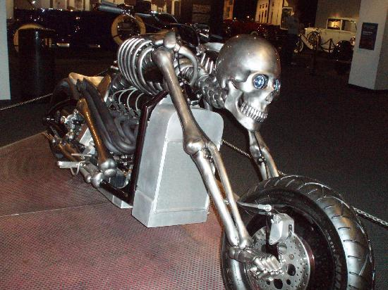 Cool Skeleton Motorbike  Picture of Petersen Automotive Museum