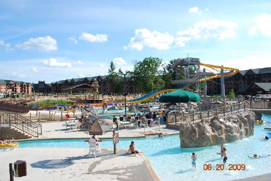 Glacier Canyon Lodge: one of the outdoor water parks and go cart track building progress