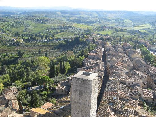 Tuscan Sunshine Tours: View from San Gimignano's Torre Grossa