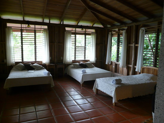 La Cusinga Eco Lodge: Aspecto interior cabina