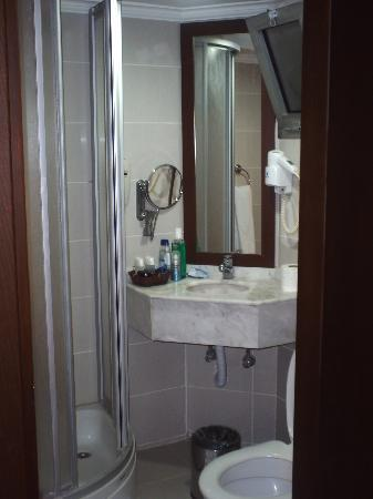 Dabaklar Hotel: small bathroom