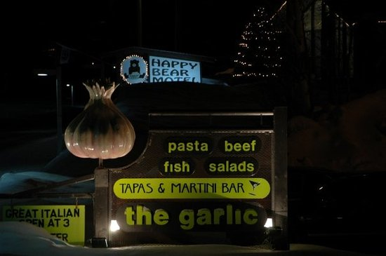 The Garlic : Restaurant where we had our first dinner in Killington.