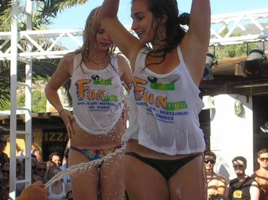 Wet T Shirt Competition At Farout Picture Of Ios Cyclades