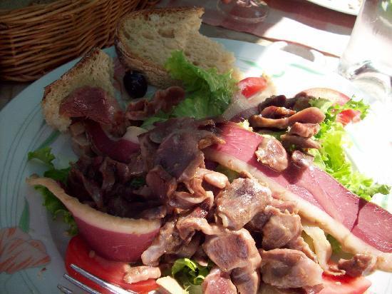 La Maison du Notaire Royal : Goose gizzard salad, regional specialty