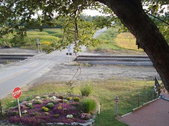 Iron Horse Hotel Bed & Breakfast: View from our upper storey, corner room