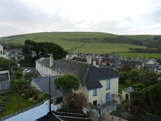 Woolacombe, UK: View from No.6 towards hills