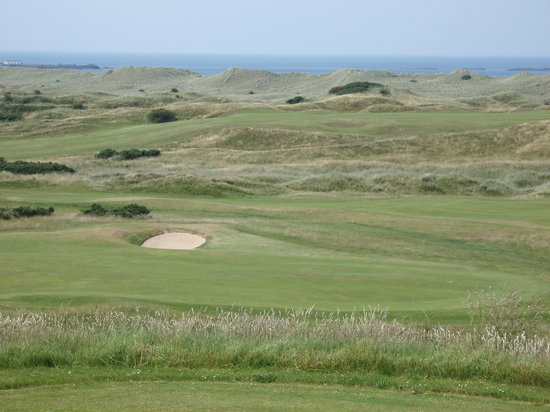 Portrush, UK: Across the course