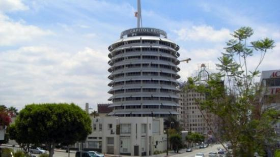 Capitol Records Building: Capitol Records Tower right off of Hollywood and Vine