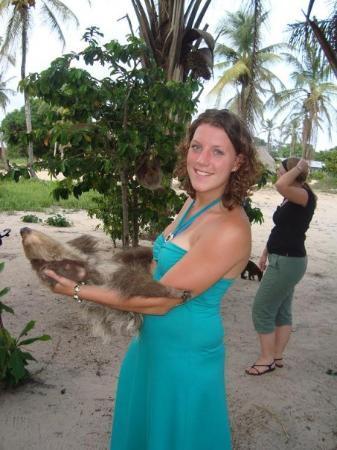 Albina, Surinam: met een luaard