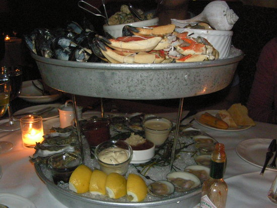 AQUAGRILL: Seafood tower - $125.  Good for 4.