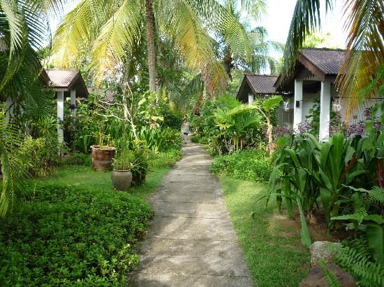 Sunset Beach Resort: One way in to the hotel chalets and the lovely beach