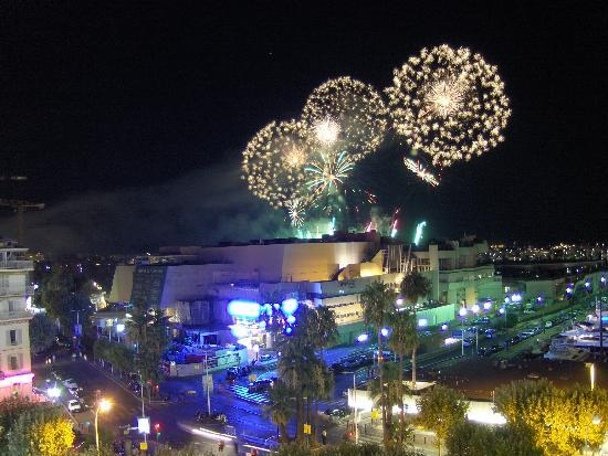 Hotel Splendid: Firework display from balcony
