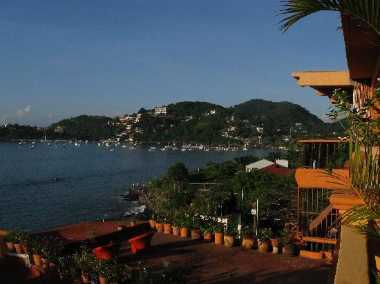 Casa Adriana: our balcony view of town/pier
