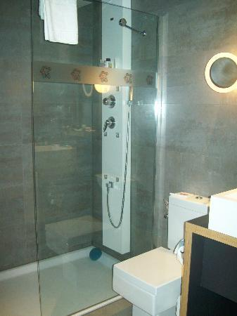 large bathroom with shower