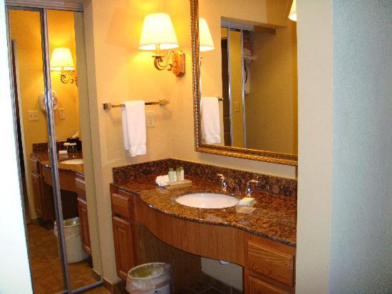 Homewood Suites by Hilton Oklahoma City-West: Vanity & sink.  Love the marble