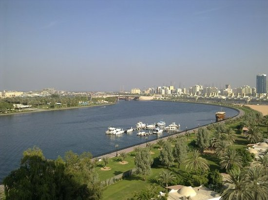 Sharjah, Vereinigte Arabische Emirate: View from Hotel room