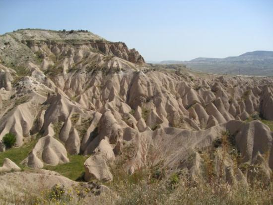 Goreme, Turkey: pink valley...the color apparently comes from iron.