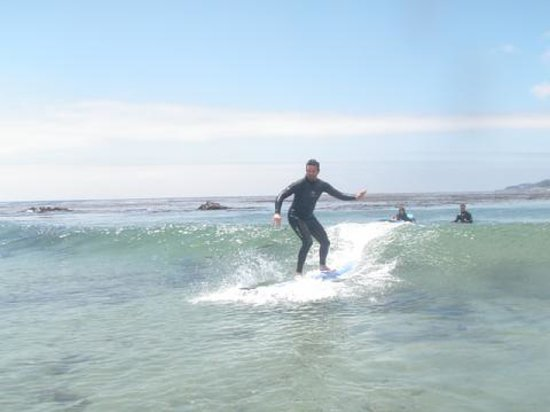 South Bay Surf Lessons: Proof I stood up!
