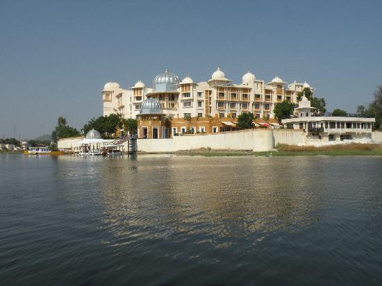 The Leela Palace Udaipur: The hotel from Lake Pichola