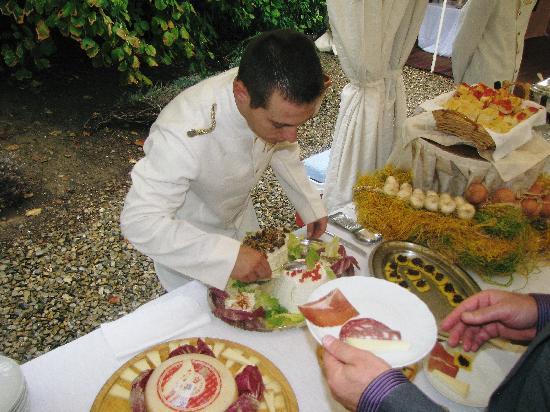 Villa Poggio ai Merli: Our wonderful apperitifs