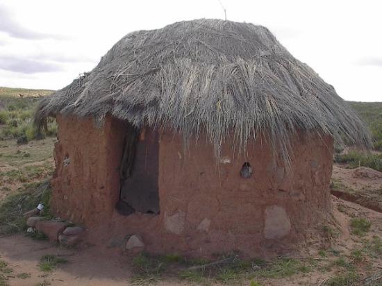 Oruro, Bolivia: Traditional hut, altiplano Bolivia