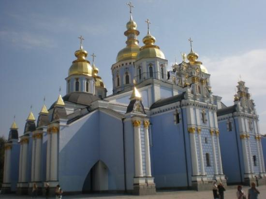 Steeple Of Russian Orthodox Church In Kiev Picture Of