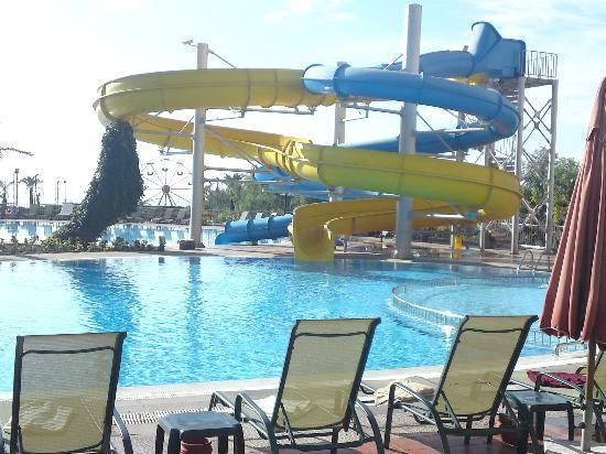 SENTIDO Turan Prince: Water Slides in to main swiming pool