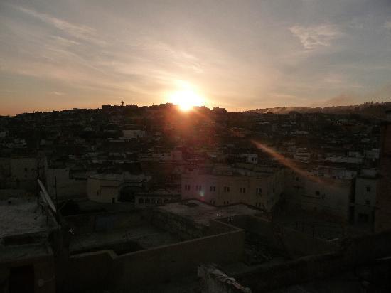 Masriya Mia: lever du soleil depuis la terrasse