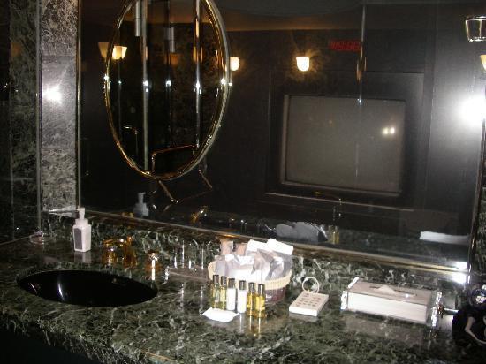 Meguro Gajoen: 浴室にもテレビがあります。
