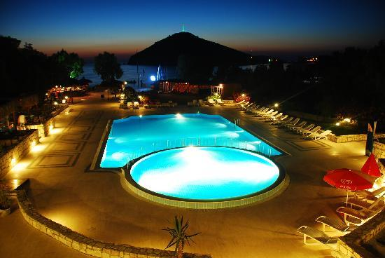 swimming pool rabbit island at night picture of zemda hotel