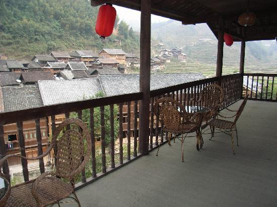 Liping county, China: Balcony view