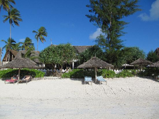 Matemwe, Tanzania: The hotel from the beach