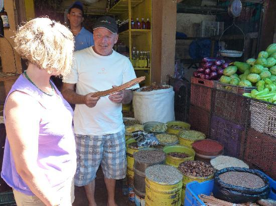 Punta Cana Mike's Private Dominican Adventure: Mike describing the various spices in the Higuey Market
