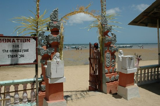 Tanjung Benoa, Indonesien: Entry gate to the Turtle Island