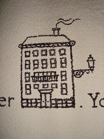 Lisbon Story Guesthouse: Petit dessin le long de l'escalier...