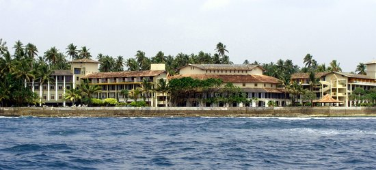 Talpe, ศรีลังกา: Hotelansicht von der Seeseite