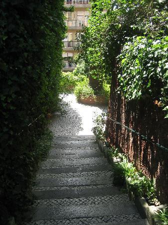 York House : escaleras para acceder al hotel