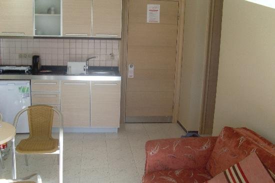 Candan Apart Hotel : kitchen/lounge