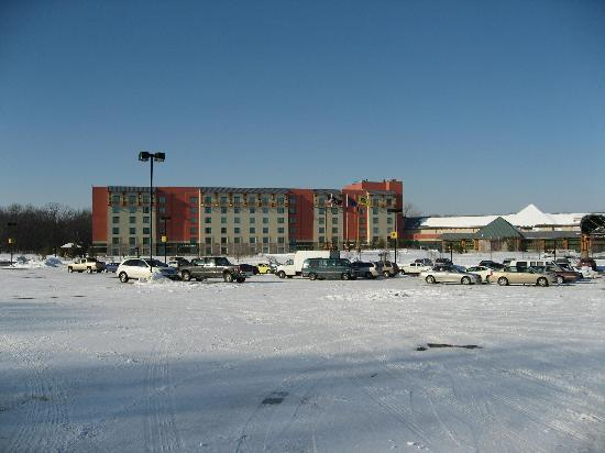 Four Winds Casino Resort: This is the outside of the hotel but taken last winter .
