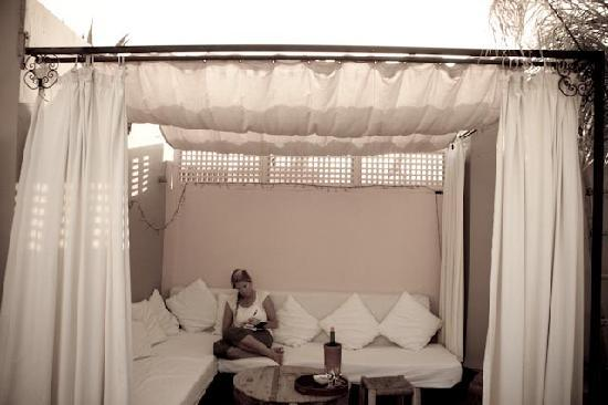 Riad Safa: Journal Writing on the roof top terrace