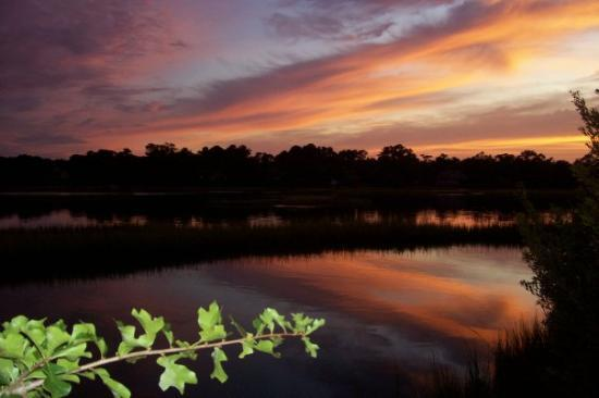 Wilmington, Carolina del Norte: Incredible sunset for a beautiful day