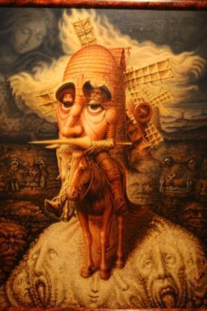 Don Quixote Iconographic Museum (Museo Iconografico del Quijote) : Guanajuato: Painting by Ocampos