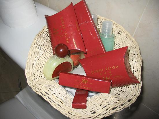 Hotel Arber: the toiletry basket